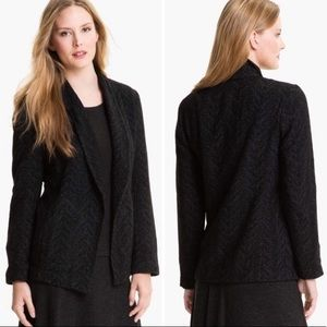 Eileen Fisher Wool Houndstooth Blazer
